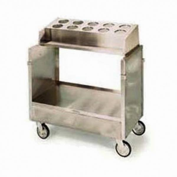 Tray & Silver Cart, (1) stack with cylinder type silver disp, enclosed style
