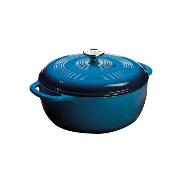 Lodge EC6D33 Lodge Induction Dutch Oven, Blue