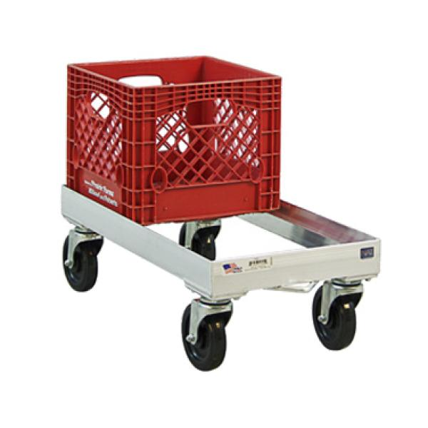 Milk Crate Dolly, open frame, 13-3/4\