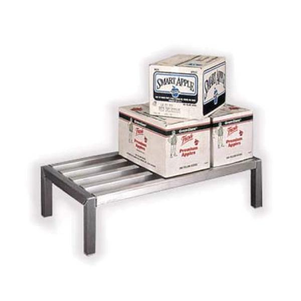 "Lifetime Series Dunnage Rack, 36""W x 20""D x 12""H, all welded aluminum construction"
