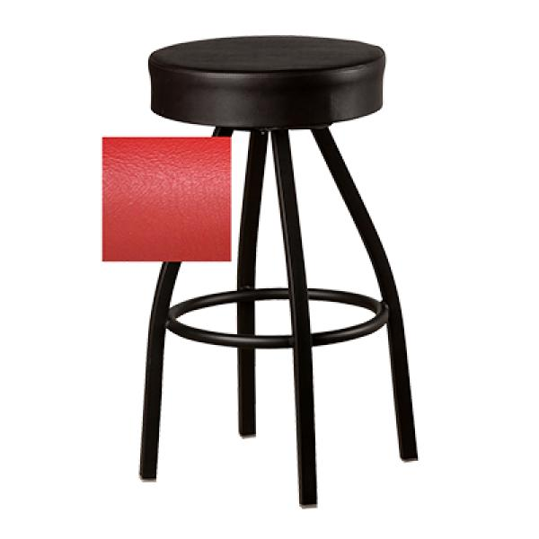 Super Oak Street Sl0137 Red Swivel Bar Stool Counter Height Backless 17 Dia Upholstered Button Top Seat Gmtry Best Dining Table And Chair Ideas Images Gmtryco