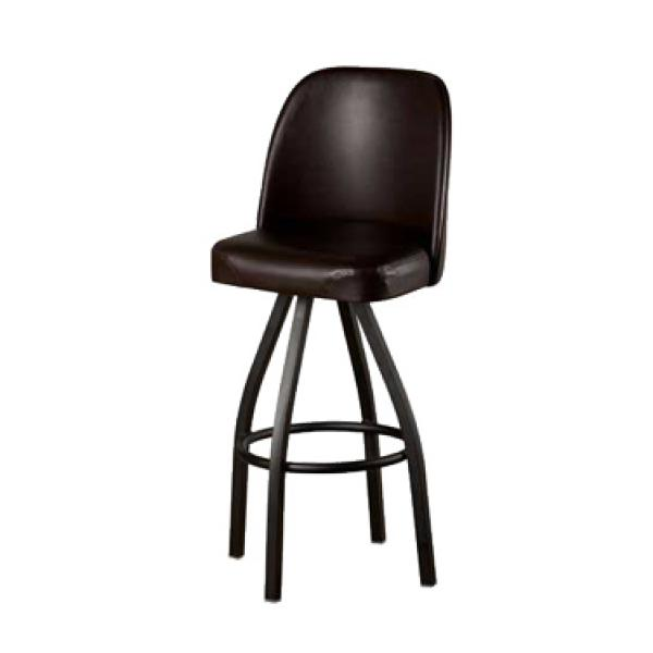 Swivel Bar Stool Counter Height Upholstered Bucket Seat