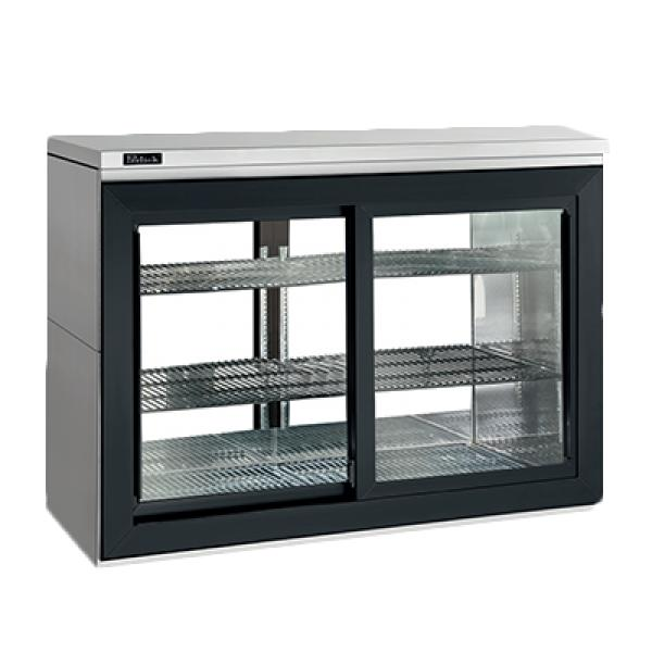 P Thru Sliding Door Refrigerated Back Bar Cabinet Two Section 48