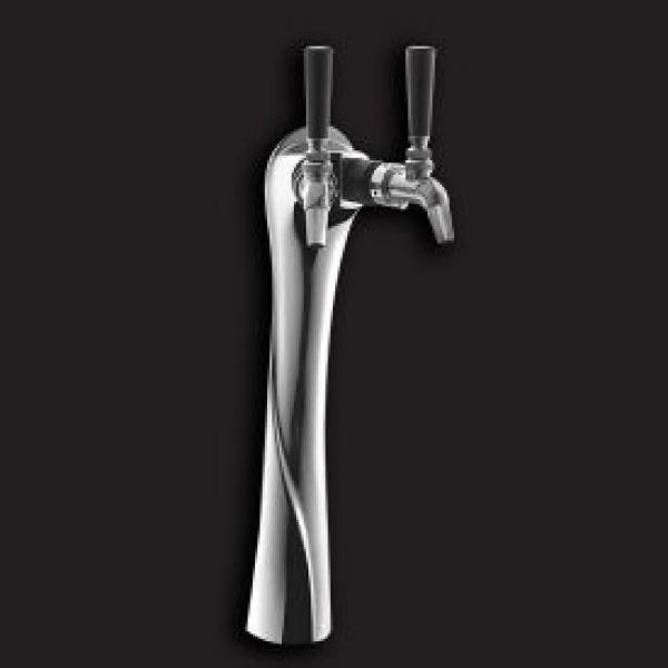 Two-Faucet Beer Lucky Tower, polished chrome, for DZS36: Restaurant ...