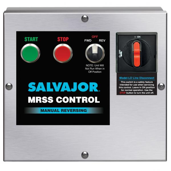 Start/Stop Push Button, manual reversing control with safety line disconnect, NEMA 4 stainless steel