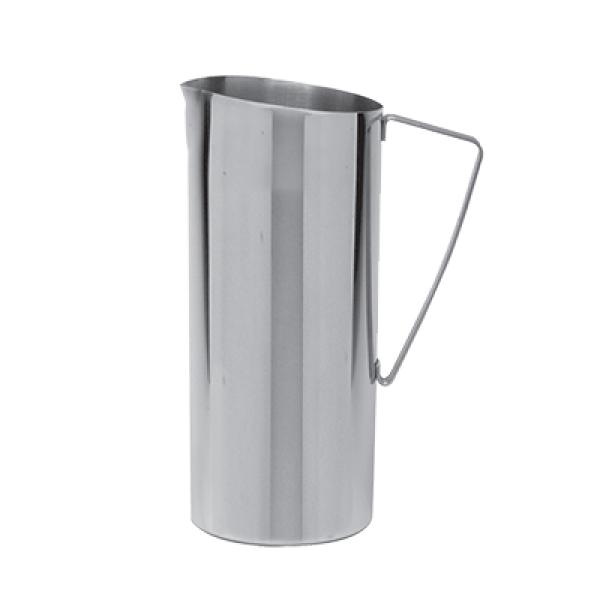 Water Pitcher, 64 oz., no ice guard, dishwasher safe, stainless steel