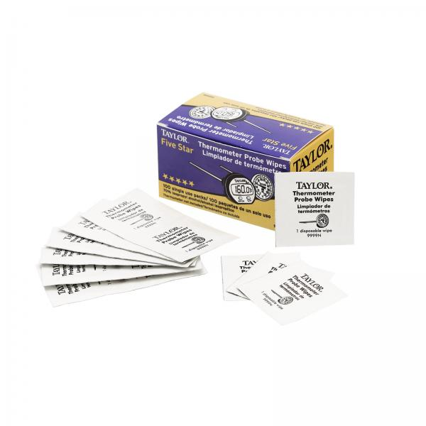 HACCP Probe Wipes, 70% isopropyl alcohol, single use (Pack of 100)
