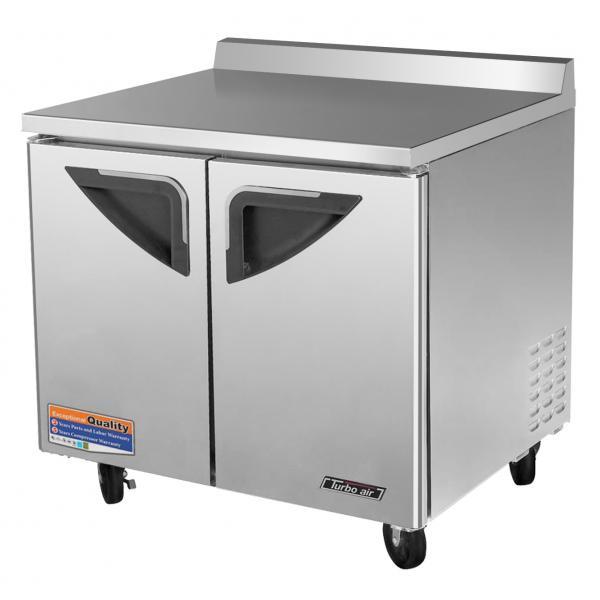 """Restaurant Kitchen Refrigerator 37"""" super deluxe worktop refrigerator - 11 cu. ft. - stainless"""