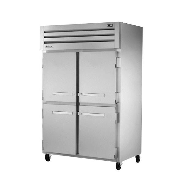 True Refrigeration STA2R4HSHC Spec Series Reach-In Refrigerator - Two Section Stainless Half-Doors