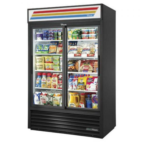 "True Refrigeration GDM45HCLD 52"" Refrigerated Sliding Door Merchandiser - 45 Cu. Ft. - R290"