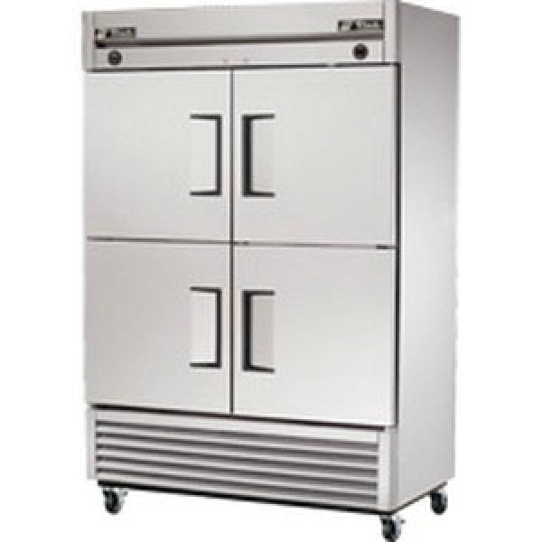"True Refrigeration  55"" Bottom Mount Reach-In Refrigerator/Freezer - 49 Cu. Ft. - Stainless Half-Doors"