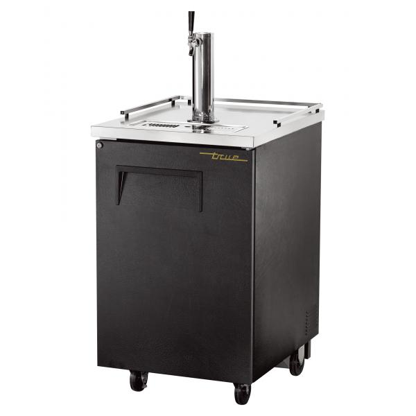"True Refrigeration  24"" Black Direct Draw Beer Dispenser"