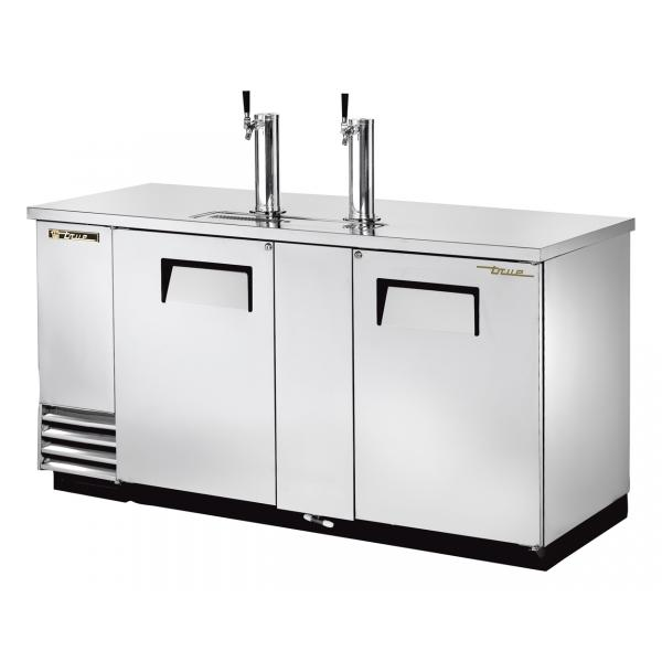"True Refrigeration  70"" Stainless Steel Direct Draw Beer Dispenser"