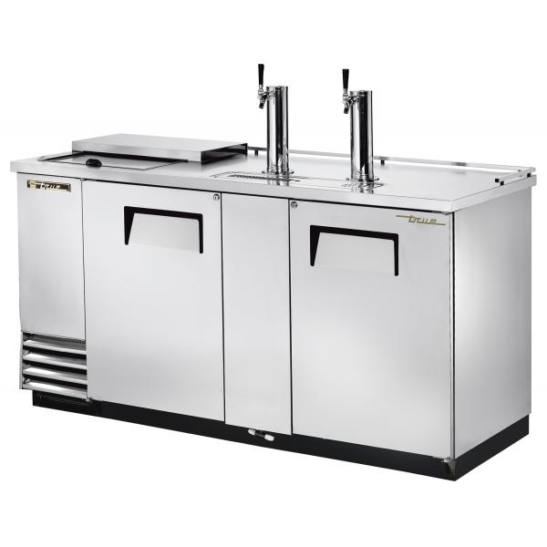 "True Refrigeration  70"" Stainless Steel Club-Top Direct Draw Beer Dispenser"