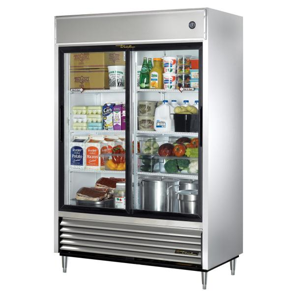 55 bottom mount reach in refrigerator 47 cu ft two - Glass door refrigerator for home ...