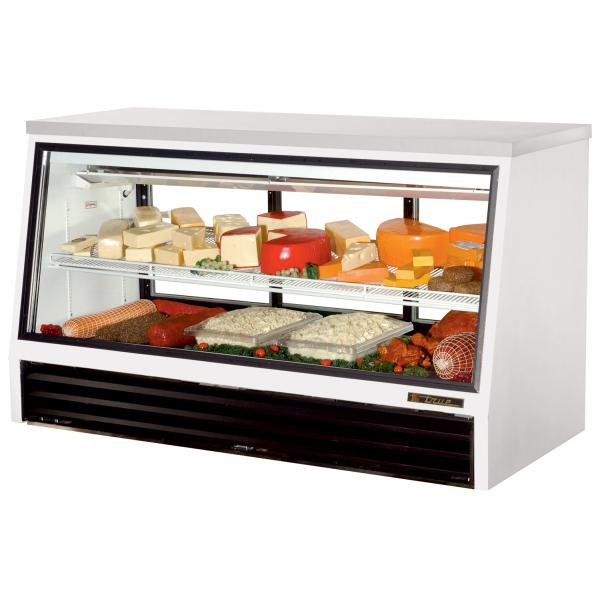 "True Refrigeration  73"" Counter Height Single Duty Refrigerated Deli Case - Three Slide Doors"