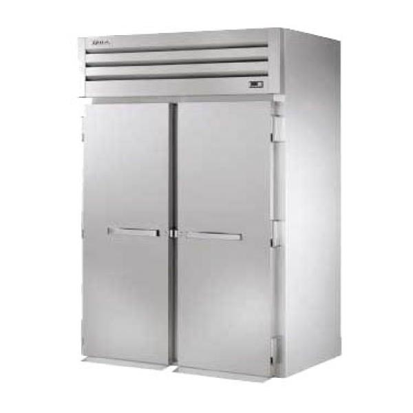 True Refrigeration STG2RRI2S Spec Series Roll-In Refrigerator - Two Section Stainless Doors
