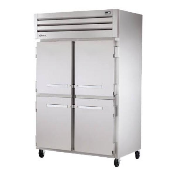 True Refrigeration STG2F4HS Spec Series Reach-In Freezer - Two Section Stainless Half-Doors