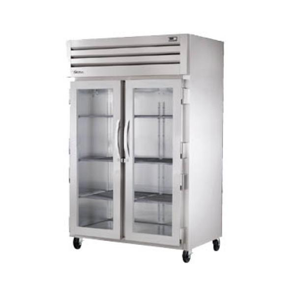 True Refrigeration STR2RVLD2G Spec Series Reach-In Refrigerator - Two Section Glass Doors