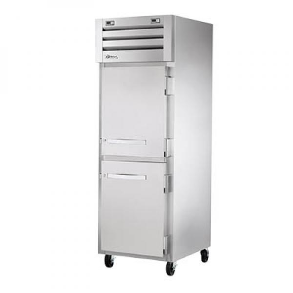 True Refrigeration  Spec Series Reach-In Refrigerator/Freezer - One Section Stainless Half-Doors