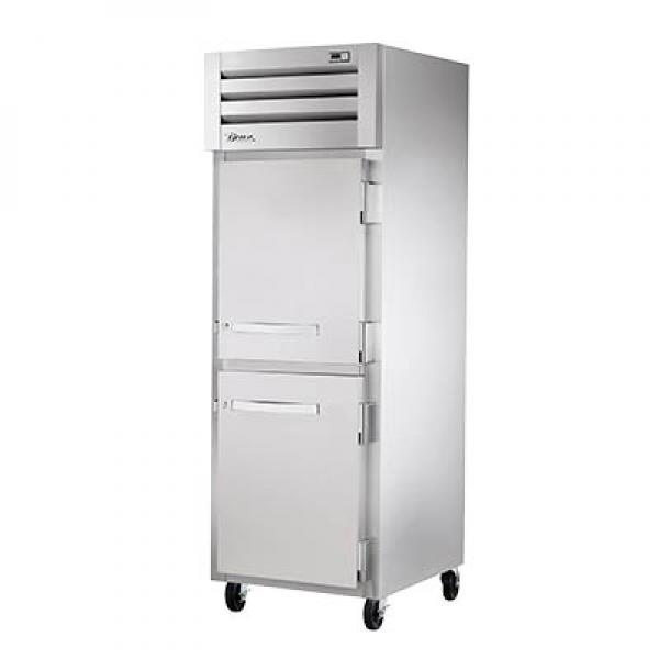 True Refrigeration STG1H2HS Spec Series Reach-In Heated Cabinet - One Section Stainless Half-Doors