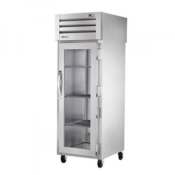 True Refrigeration STG1HPT1G1S Spec Series Pass-Thru Heated Cabinet - One Section Glass Door & Rear Stainless Door