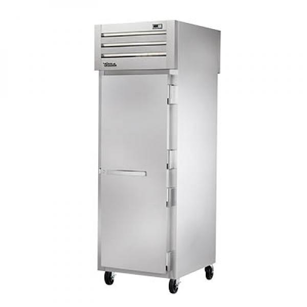 True Refrigeration STG1HPT1S1S Spec Series Pass-Thru Heated Cabinet - One Section Front & Rear Stainless Doors