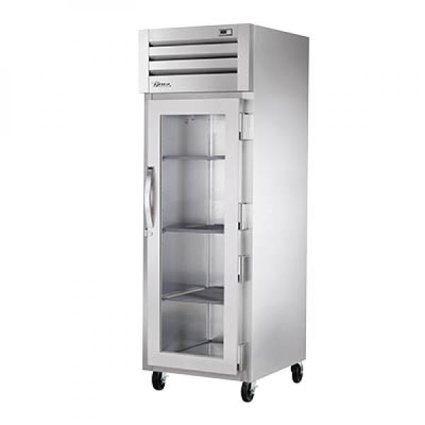True Refrigeration STG1R1GHC Spec Series Reach-In Refrigerator - One Section Glass Door - R290