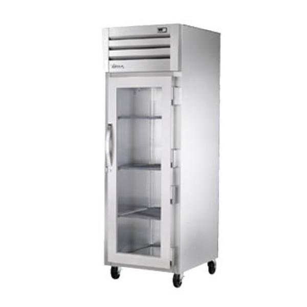 True Refrigeration STA1RVLD1G Spec Series Reach-In Refrigerator - One Section Glass Door
