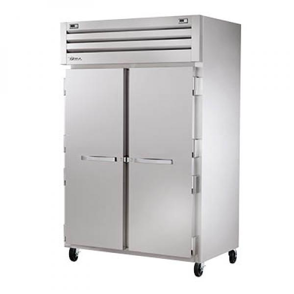 True Refrigeration STA2DT2S Spec Series Reach-In Refrigerator/Freezer - Two Section Stainless Doors