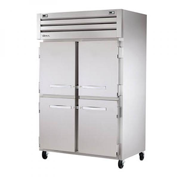 True Refrigeration STG2DT4HS Spec Series Reach-In Refrigerator/Freezer - Two Section Stainless Half-Doors