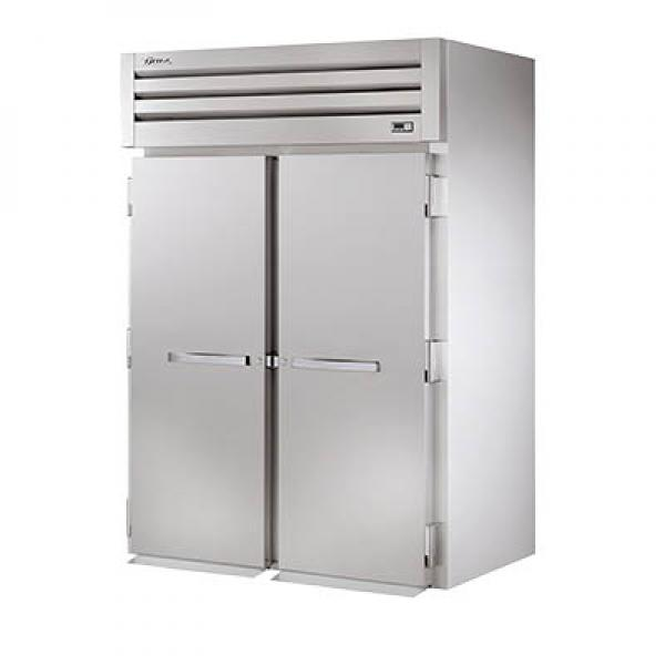 True Refrigeration STA2FRI2S Spec Series Roll-In Freezer - Two Section Stainless Doors