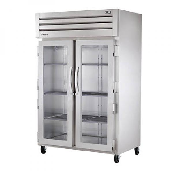 True Refrigeration STA2H2G Spec Series Reach-In Heated Cabinet - Two Section Glass Doors