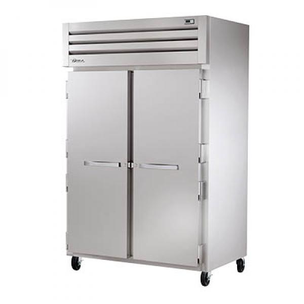 True Refrigeration STR2H2S Spec Series Reach-In Heated Cabinet - Two Section Stainless Doors