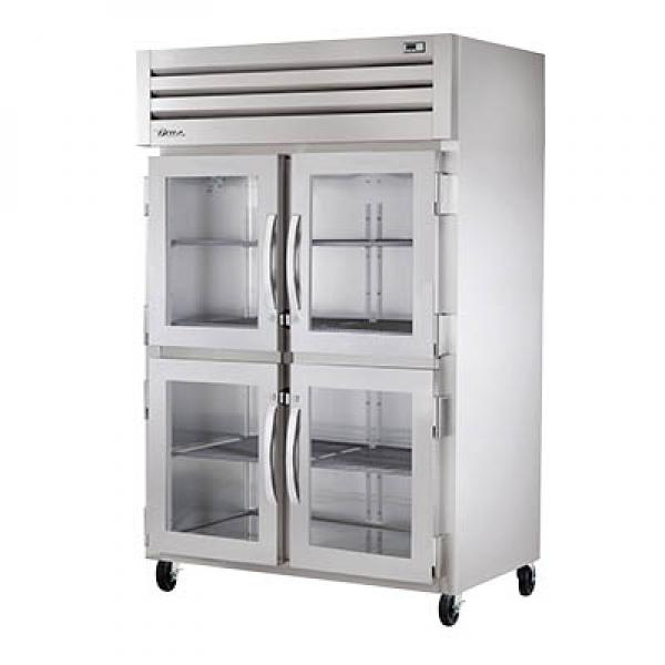 True Refrigeration STA2H4HG Spec Series Reach-In Heated Cabinet - Two Section Glass Half-Doors