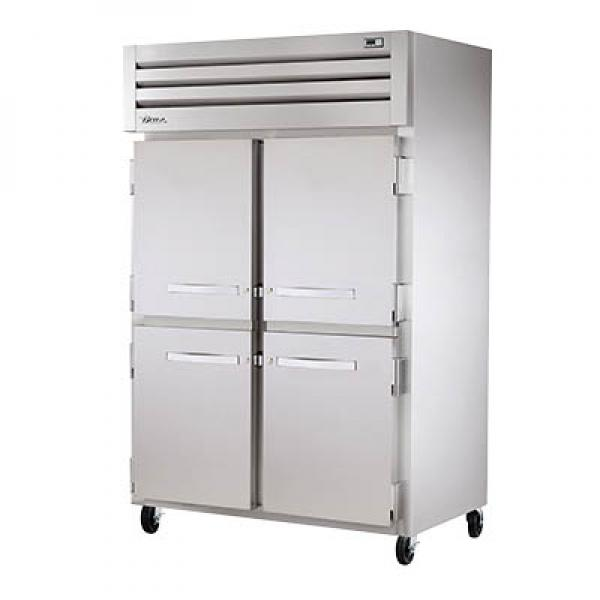 True Refrigeration STG2H4HS Spec Series Reach-In Heated Cabinet - Two Section Stainless Half-Doors