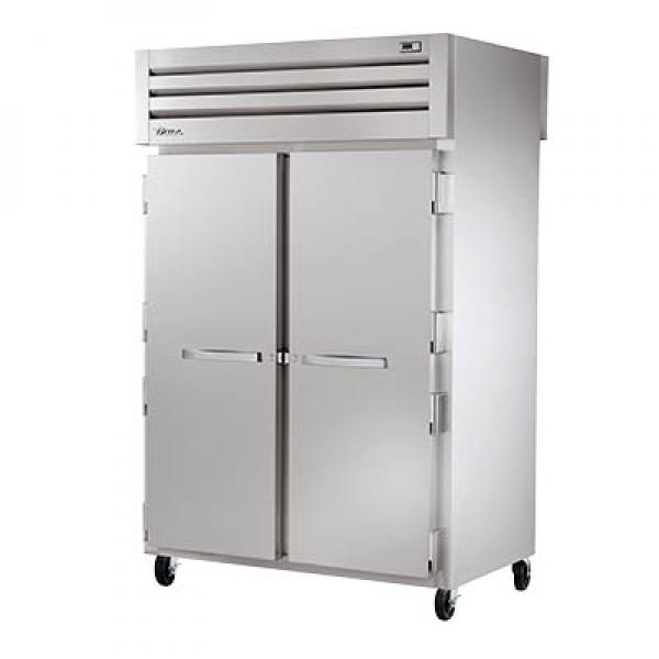 True Refrigeration STR2HPT2S2S Spec Series Pass-Thru Heated Cabinet - Two Section Front & Rear Stainless Doors