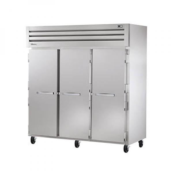 True Refrigeration STR3F3S Spec Series Reach-In Freezer - Three Section Stainless Doors