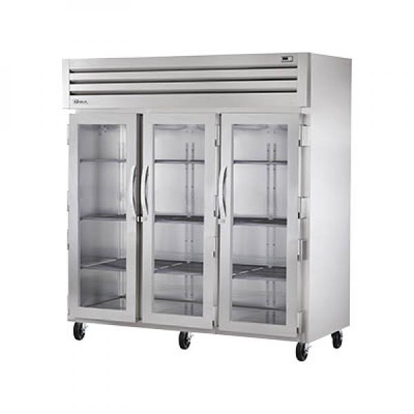 True Refrigeration STG3R3G Spec Series Reach-In Refrigerator - Three Section Glass Doors