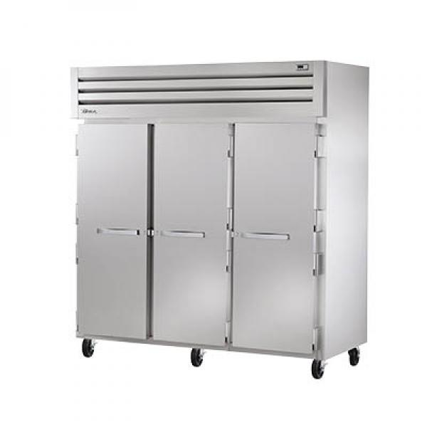 True Refrigeration STA3R3S Spec Series Reach-In Refrigerator - Three Section Stainless Doors