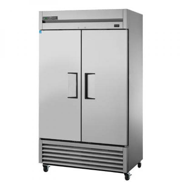 "True Refrigeration T43FHC 47"" Bottom Mount Reach-In Freezer - 43 Cu. Ft. - Two Stainless Doors"