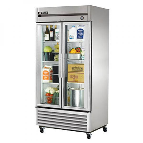 40 Bottom Mount Reach In Freezer 35 Cu Ft Two Glass Doors Restaurant Equipment Solutions