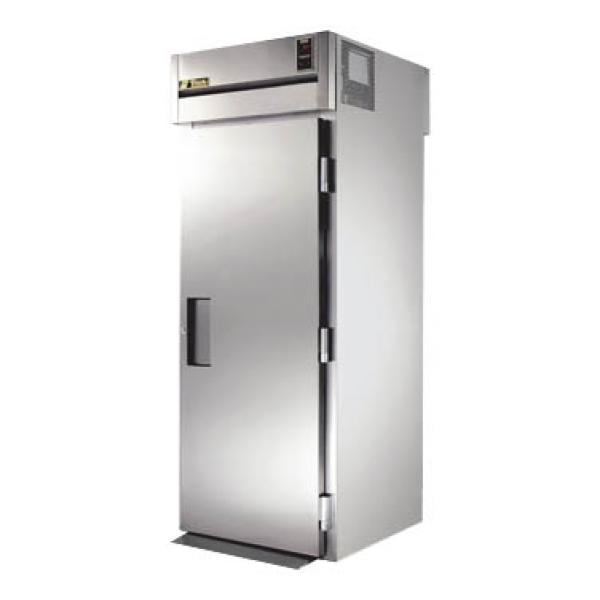 True Refrigeration STA1RRT891S1S Spec Series Tall Roll-Thru Refrigerator - One Section Front & Rear Stainless Doors