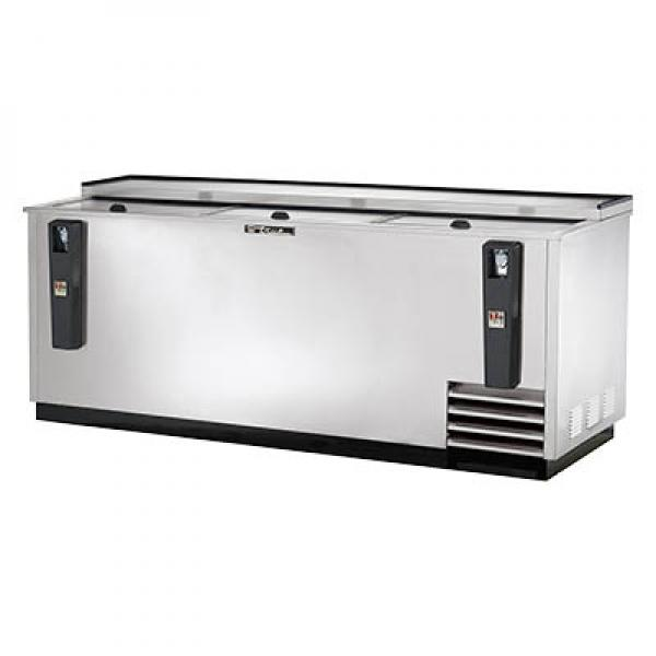"True Refrigeration  81"" Stainless Steel Horizontal Bottle Cooler"