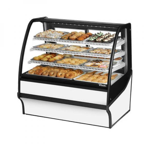 "True Refrigeration TDMDC48GEGEWW 49"" White Dry Display Merchandiser - White Interior"