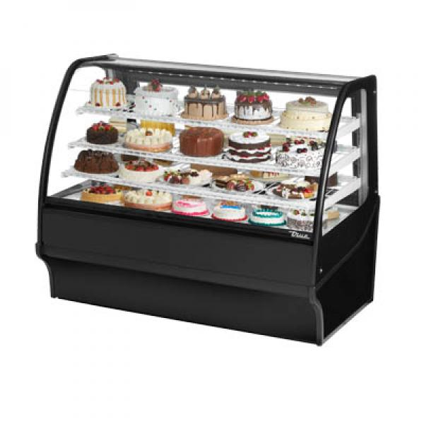 "True Refrigeration TDMR59GEGESS 60"" Stainless Steel Refrigerated Display Merchandiser - Stainless Interior"