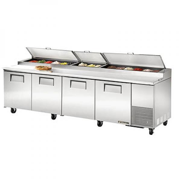 Pizza Prep Table Four Stainless Doors Restaurant Equipment - Restaurant warmer table