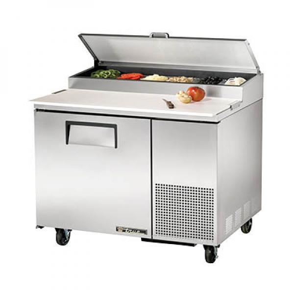 "True Refrigeration  45"" Pizza Prep Table - One Stainless Door"
