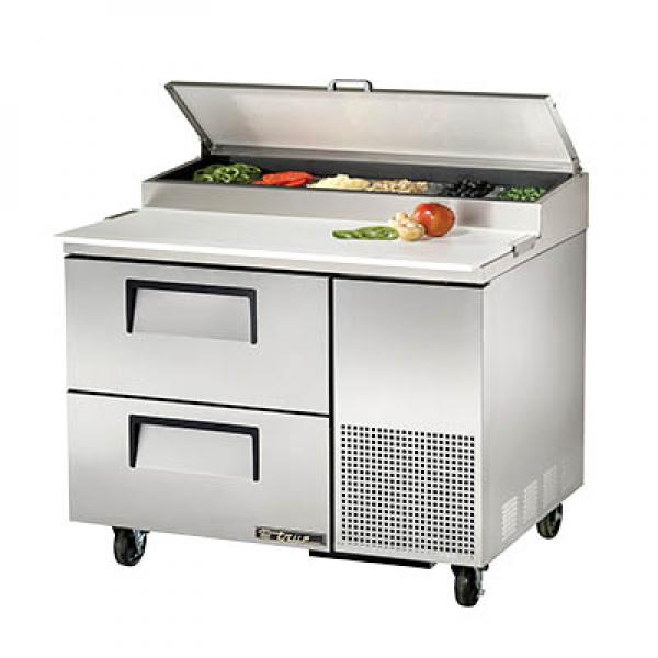 "True Refrigeration  45"" Pizza Prep Table - Two Drawers"