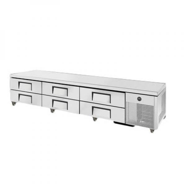 "True Refrigeration TRCB110 110"" Refrigerated Chef Base - Six Drawers"